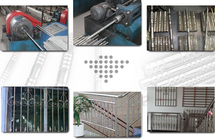 the application of pipe/tube flower machine